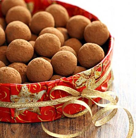 Рецепт мятных шоколадных трюфелей