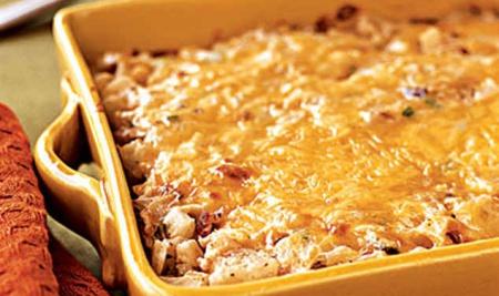 Рецепт макаронной запеканки  spaghetti tetrazzini с курицей и грибами