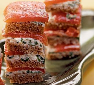 Рецепт закуски из копченого лосося