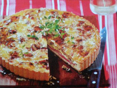 Рецепт торта из грибов и ветчины