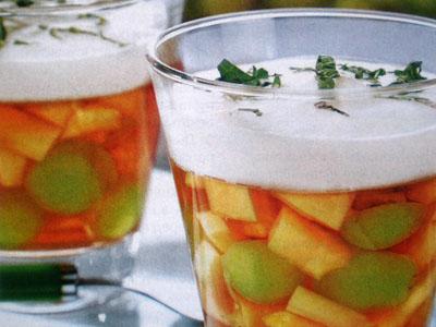 Рецепт желе из дыни с виноградом