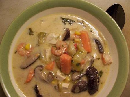 Рецепт супа с сыром с креветками