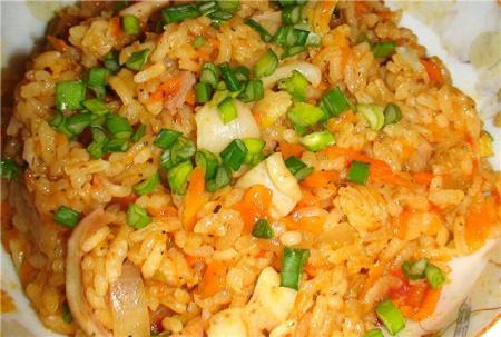 Рецепт плова с морепродуктами