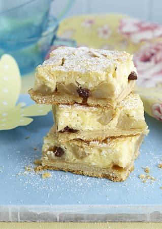 Рецепт пирога с яблоками и творогом