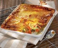 Рецепт картофельной запеканки с мясом индейки и клюквенным соусом