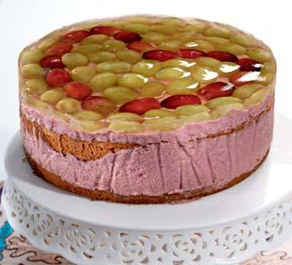 Рецепт виноградного торта в желе