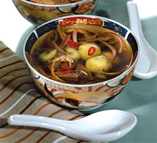 Рецепт супа из индейки и говядины с кукурузными клецками