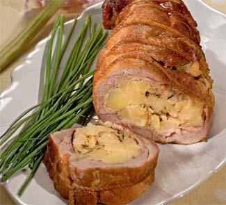 Рецепт телятины, фаршированной картофелем и луком
