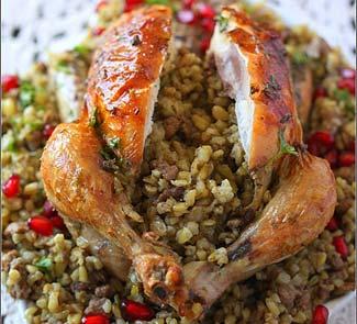 Рецепт цыплят фаршированных фрике