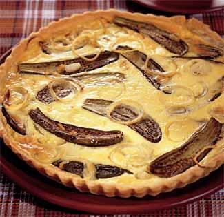 Рецепт открытого пирога с баклажанами