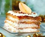 Рецепт торта «Наполеон» с сыром и грушами