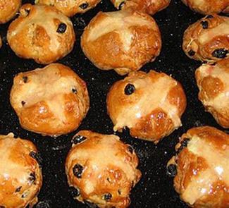Рецепт английских крестовых булочек