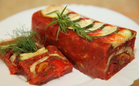 Рецепт заливного из овощей