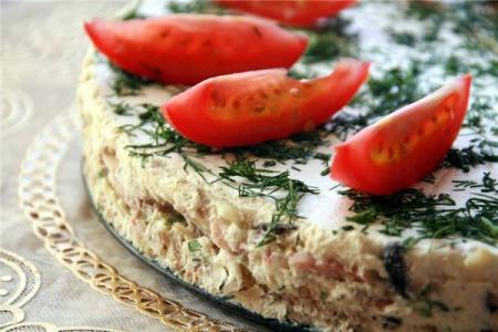 Рецепт сырного торта с ветчиной и грибами