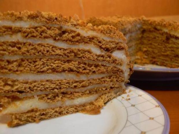 Рецепт заварного крема для торта медового торта