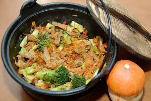 Рецепт - Тушеная говядина с овощами на 14 февраля