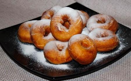 рецепт пончиков в домашних уловиях