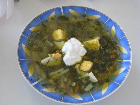Щи зеленые. Рецепт домашних зеленых щей