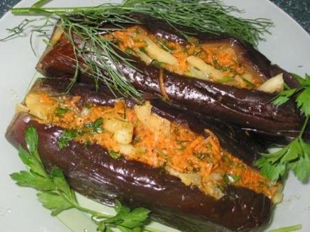 Квашенные синенькие. Рецепт приготовления остро-кислых квашеных баклажанов.