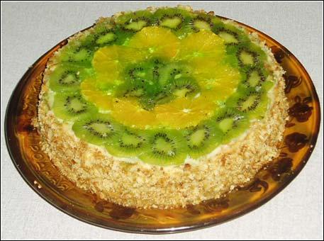 Бисквитные торты с фруктами рецепты с