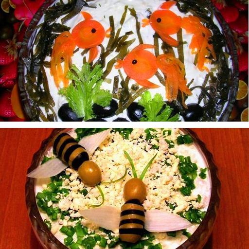 рецепты салатов на стол на день рождение