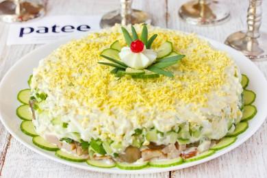 салаты с копченым окорочком рецепты с фото