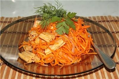 салат со спаржей по корейски