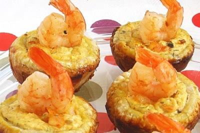 Тарталетки с креветками – ароматная, обворожительная закуска к 8 марта.