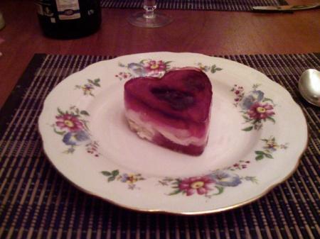 Праздничное желе ко дню Святого Валентина. Рецепт желе на 14 февраля.