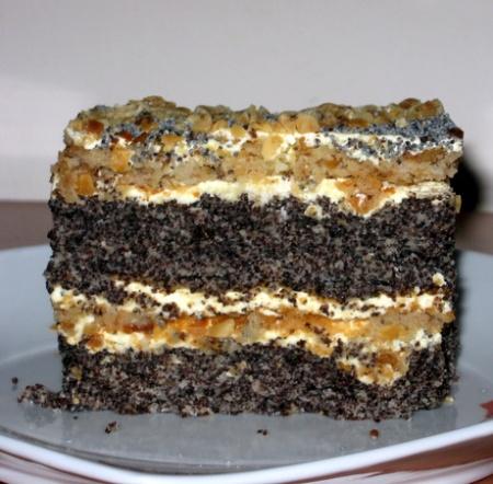 Торты с маком. Рецепты тортов с маком. Вкуные торты