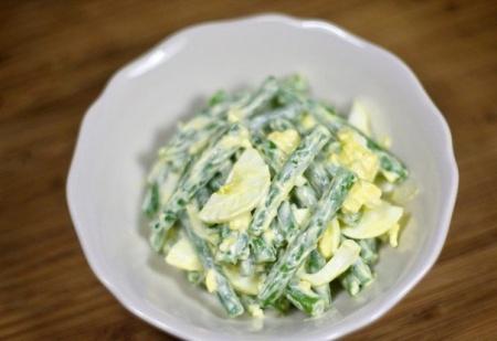 Салат из стручковой фасоли с яйцом. Рецепт салата со стручковой фасолью и яйцом
