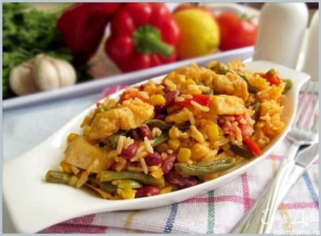 Курица по-мексикански – оригинальное, ароматное и вкусное блюдо. Рецепт на 8 марта.