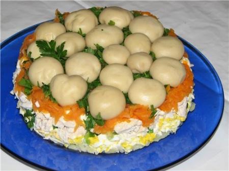«Грибная поляна» салат – рецепт. Как готовится красивый и вкусный салат «Грибная поляна»?