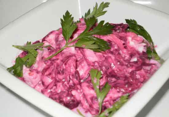 Салат фейерверк со свеклой рецепт с